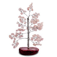Natural Rose Quartz Chakra Vastu Tree - Small